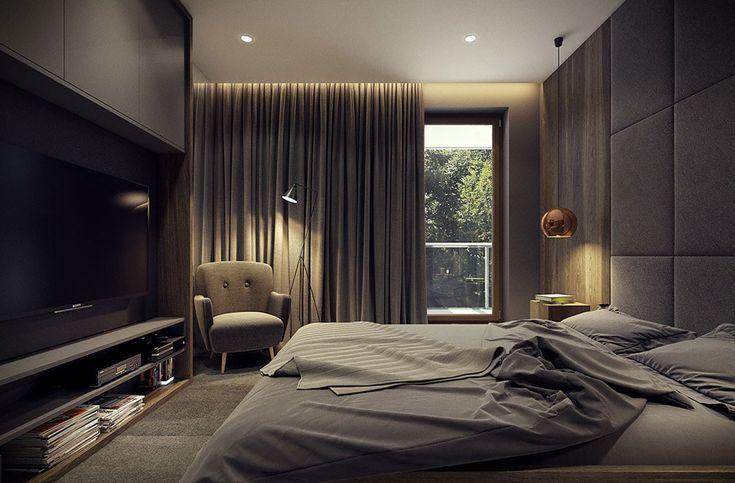 Camera da letto matrimoniale elegante - casa moderna