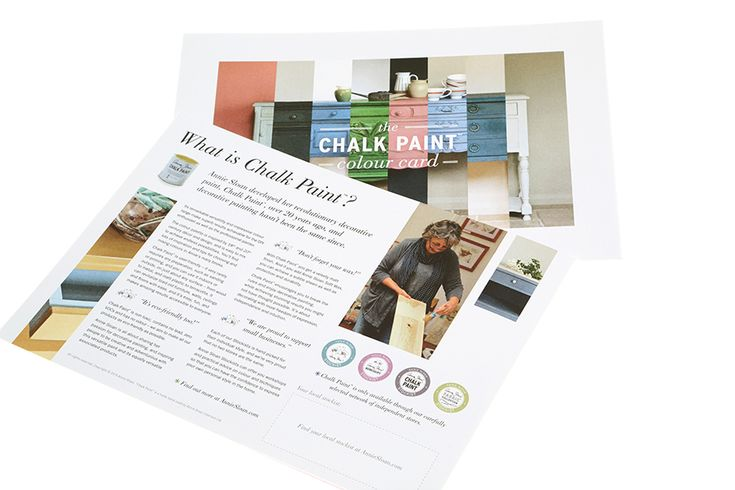 <p>The Chalk Paint<span>® colour card uses real paint swatches to give you an accurate colour sample, with a history of each colour. Positioned on a colour wheel, the card shows you how the different colours mix together.</span></p>