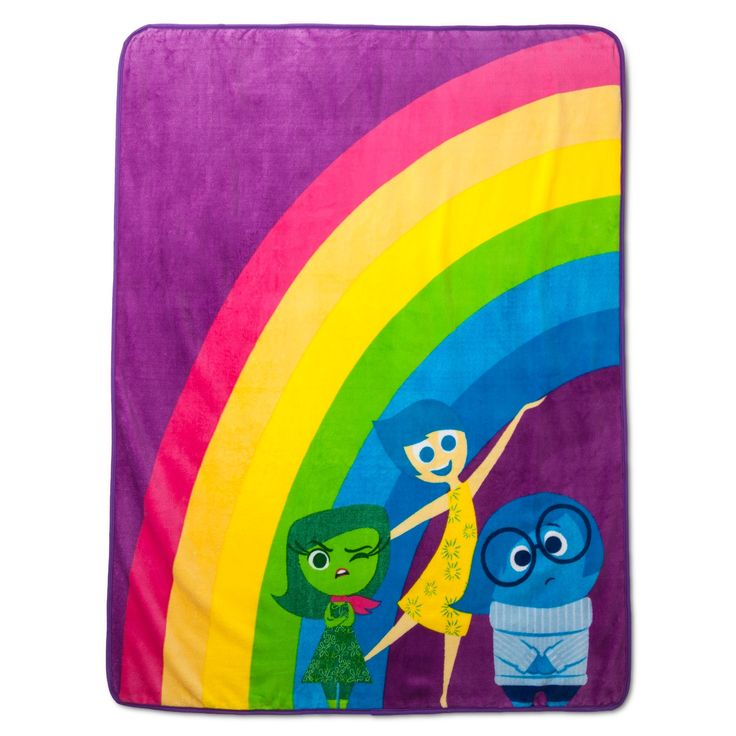 "Disney Inside Out Throw - Purple (50""x60"")"