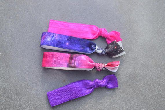Creaseless Hair Ties, Hair Ties, No Crease Hair Ties, Galaxy, Glitter, Arrows, Neon, Anchors :) easter basket, stocking stuffers