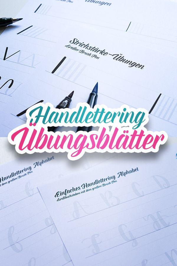 Handlettering Vorlagen Ubungsblatter Kostenlos Im Mini Workshop