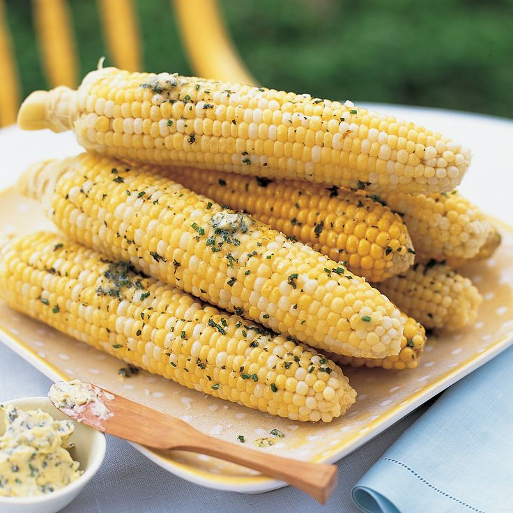 Serving sweet corn with a flavored butter, like this one with zest and herbs, makes it even more delectable.