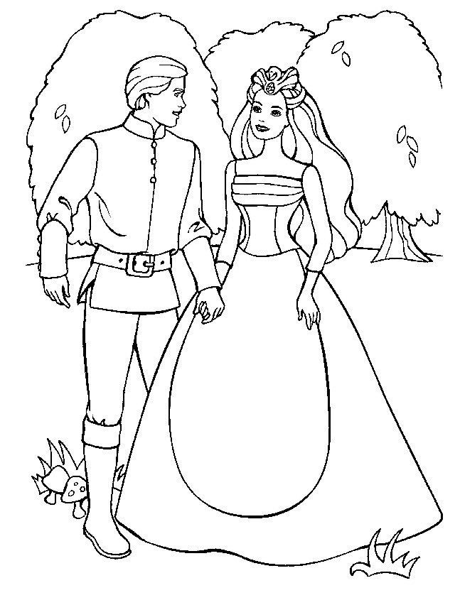 Free Barbie Of Swan Lake Movie Kids Coloring Pages Printable Marriage