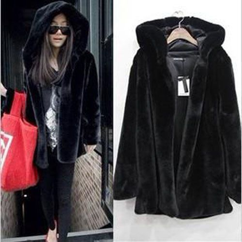Hot Black Womens Winter Warm Outerwear Ladies Parka Faux Fur Hooded Jacket Coat  #NEWRUIYIGE #Parkas #Casual