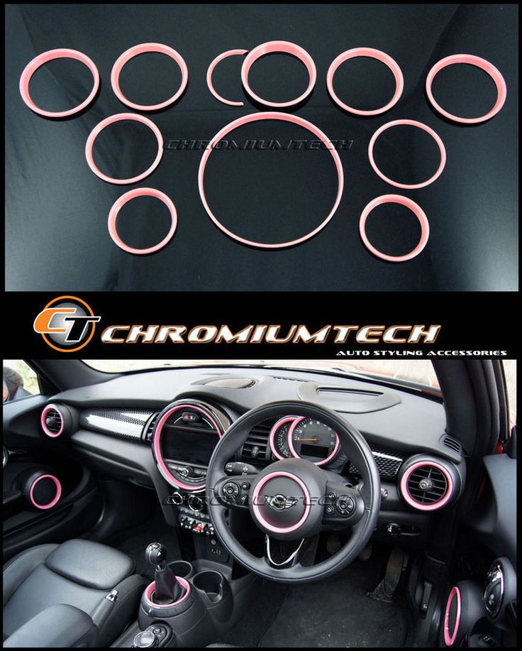 MK3 F56 MINI Cooper/S/ONE PINK Interior Rings Trim Kit for model w/Navigation XL #Chromiumtech