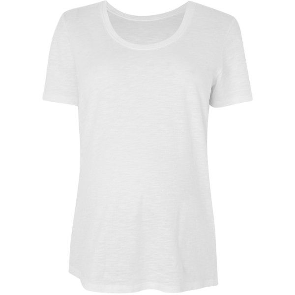Topshop Maternity Scoop Neck T-Shirt ($9.35) ❤ liked on Polyvore featuring maternity and white