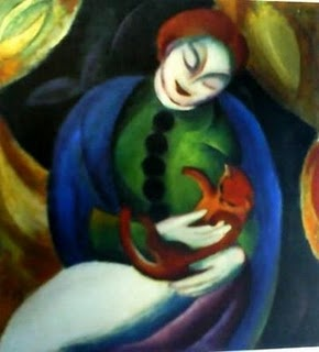 Girl with Cat Franz Marc