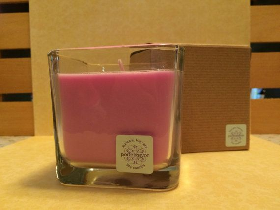 Lavender Scented Soy Candle 14oz.  Hand Poured  by portesavon