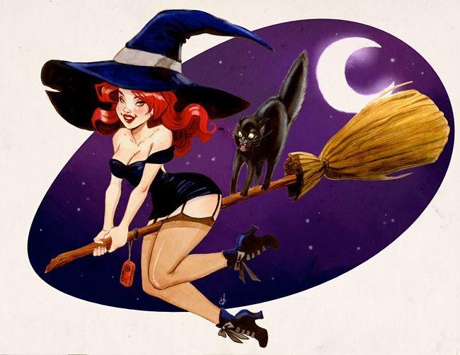 Church of Halloween » Modern Halloween Pin-Ups (51 Illustrations)