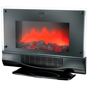 the bionaire electric fireplace u0026 space heater includes a realistic flame in a modern design that will keep you feeling comfortable