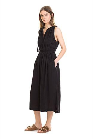 Cheesecloth Tassel Dress