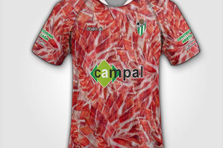 スペインサッカーチームの奇抜なユニホーム  ハム会社の幹部が保有する「ギフエロ」の生ハム模様、ビール醸造会社がスポンサーの「ルゴ」のビールやタコ模様など、スペインのサッカーチームのユニークなユニホームを紹介。