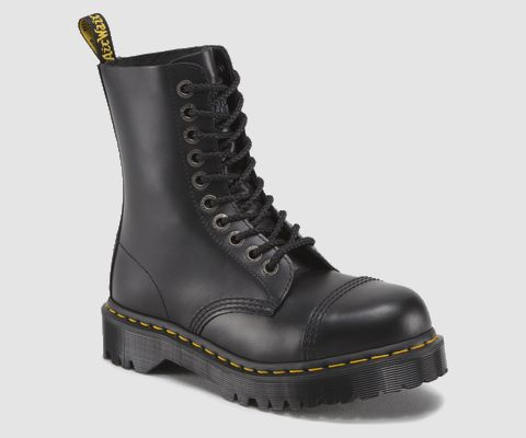 8761 BXB BOOT   Unisex Boots   Official Dr Martens Store - UK. Black Dr. Martens Boot with industrial inspired steel toes.