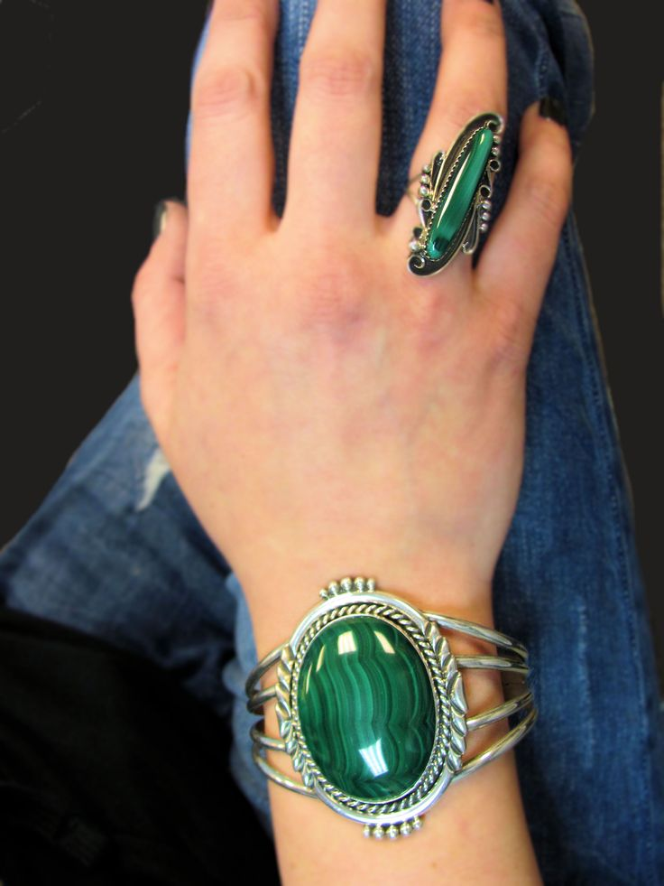 Beautiful Malachite jewelry pieces found here @ SilverTribe.com!