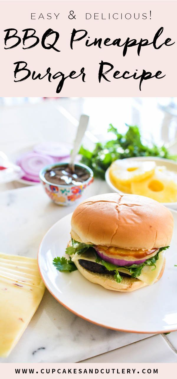 I love a good burger recipe don't you? This BBQ pineapple burger is the best! It's easy to put together (with a BUBBA Burger beef patty) and tastes better than home made! Cooks in about 15 minutes from frozen! Perfect weeknight meal idea for busy moms!
