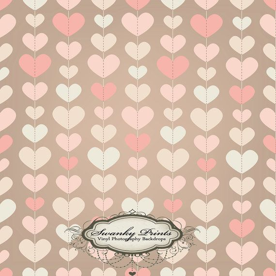 Valentines Pink Hearts - Oz Backdrops and Props