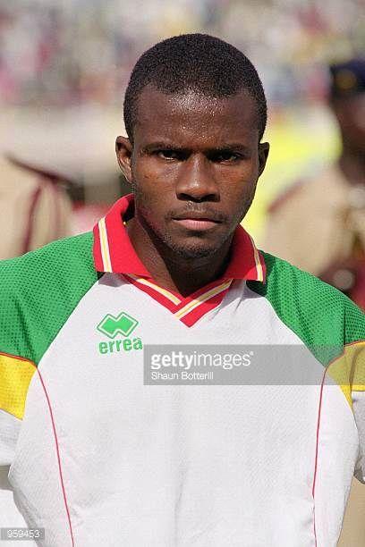 Portrait of Omar Daf of Senegal prior to the FIFA 2002 World Cup Qualifyng match against Morocco played at the Stade Leopold Sedar Senghor in Dakar...