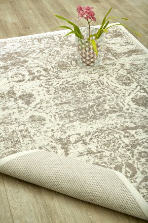 White Antique Damask Rug (2 x 3m): Airloom Flatweaves are unique, reversible high-quality rugs inspired by classica...
