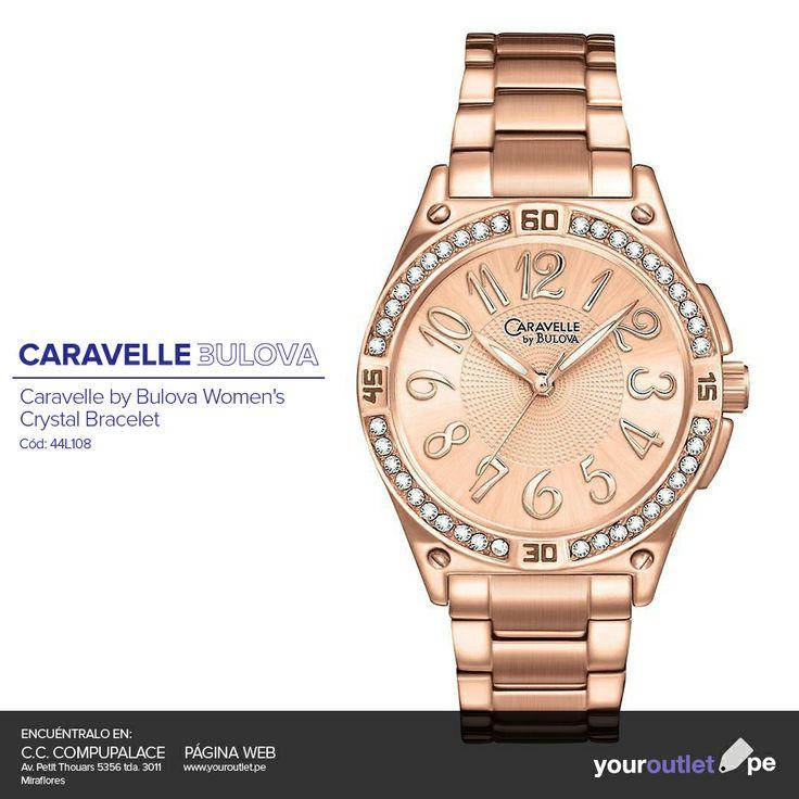 ¿Lista para este fin de semana? Lleva este reloj Caravelle by Bulova en tu muñeca, al mejor precio.  Visítanos en Compupalace o consíguelo en nuestra página web.