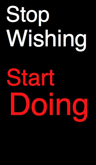Stop Wishing Start Doing - Iam Tinley #goals #quotes    www.LaptopMiljonair.nl