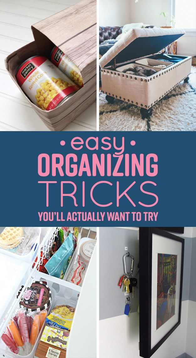 7 Easy Organizing Tricks Youu0027ll Actually Want