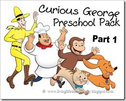 FREE curious George worksheets for kids toddler and preschool.