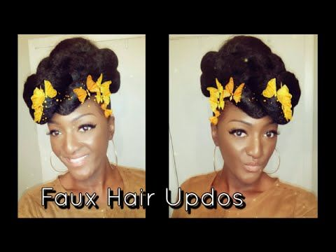 YouTube faux mohawk and other updo's