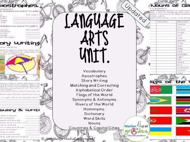 Language Arts Unit of Work. - Set 1