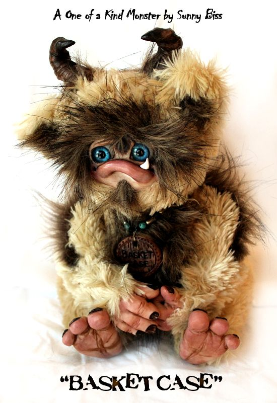 """""""BASKET CASE"""" monster is a one of a kind creature by Sunny Biss. http://www.sunnybiss.com"""