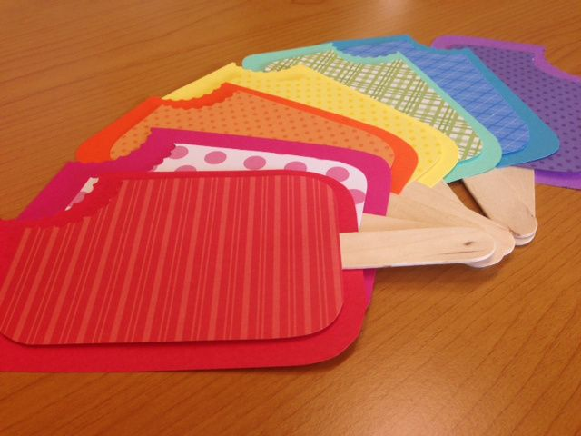 """A """"pop"""" of color: These popsicle door decs were so easy to make. Check out theraguide.wordpress.com for info on how to make these, as well as ideas for bulletin boards, hall decorations and programs that go along with this theme!"""