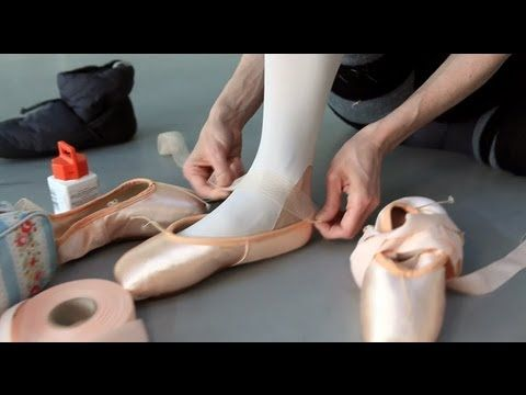 How ballet dancers prepare pointe shoes for performance.  Beautiful video.   http://m.youtube.com/watch?v=P1w8zbEf_Qg&desktop_uri=%2Fwatch%3Fv%3DP1w8zbEf_Qg