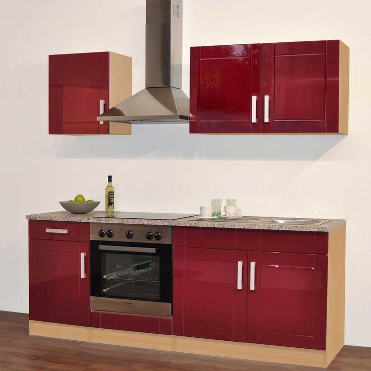 Die besten 25+ Küche rot hochglanz Ideen auf Pinterest ... | {Einbauküche schwarz hochglanz 10}