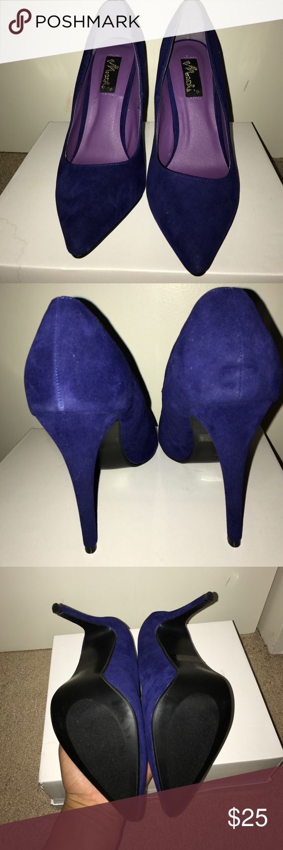 *BRAND NEW* Royal Blue Pumps Royal blue Suede Pumps Shoes Heels