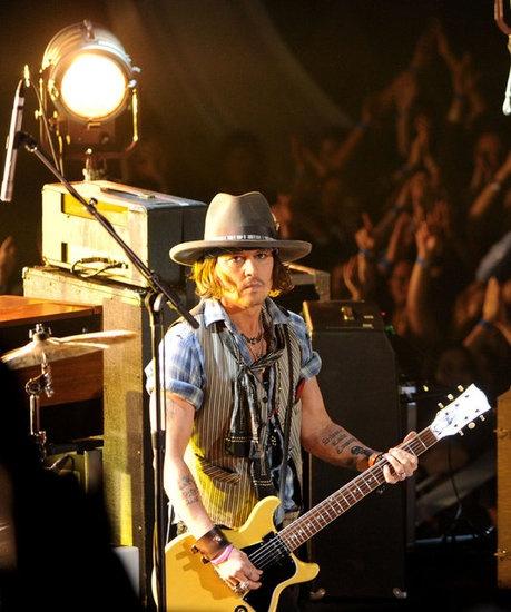 Johnny Depp Pictures at MTV Movie Awards ♥: Depp Pictures, Johnny Depp, Music Instruments, Awards 2012, Johnny Plays, 2012 Mtv, Black Keys, Depp Beautiful, Mtv Movie Awards