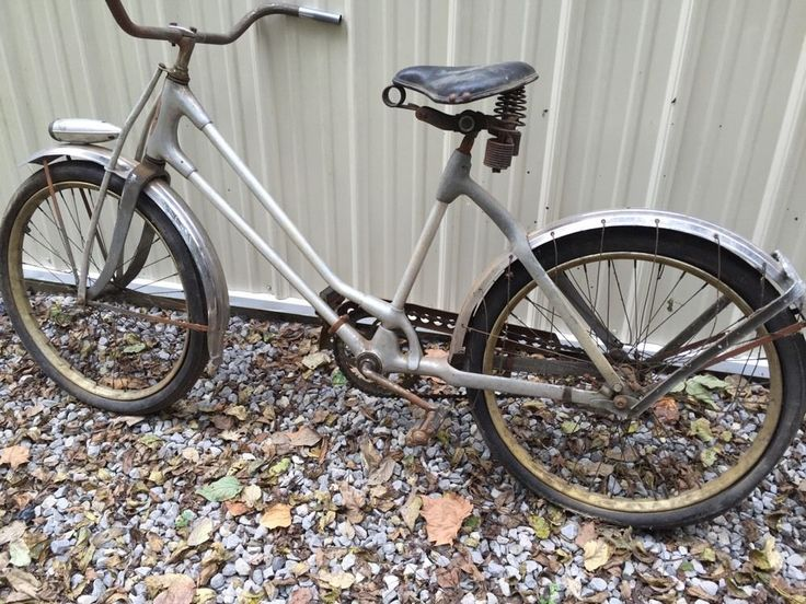 1930's monarch silver king ladies bicycle-for Restore-dogleg Crank #Monarch