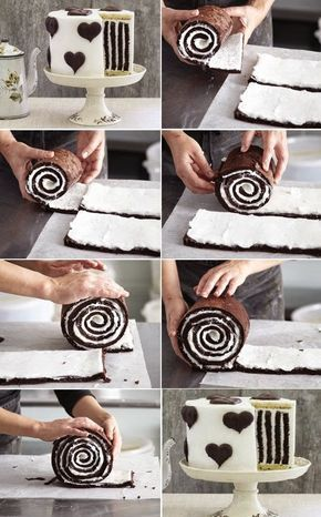 Christmas Cookies: Gorgeous Chocolate Stripe Cake