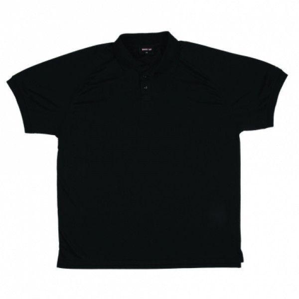 Recycled Polo Shirt (Black) ONLY Ladies and Mens Large and above in stock - Boostup