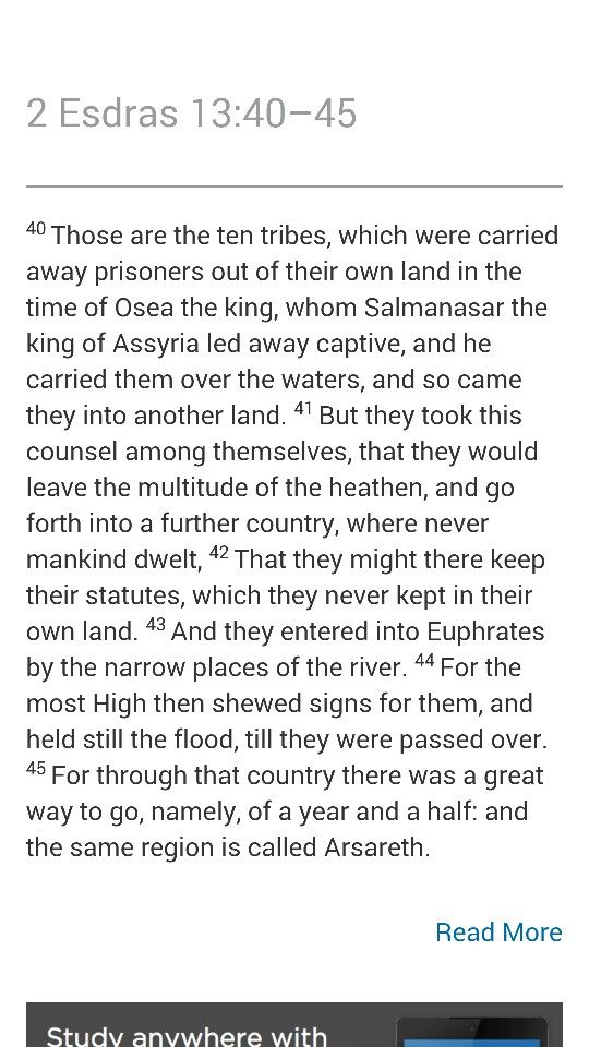 the Apocrypha is of the Bible...its an account of the Israelites history during Greek captivity....and ye shall know the truth, and the truth shall make you free. John 8:32