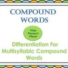 Over 90 compound words divided and color coded for classroom differentiation. Each level includes a pre and post assessment to document progress, c...