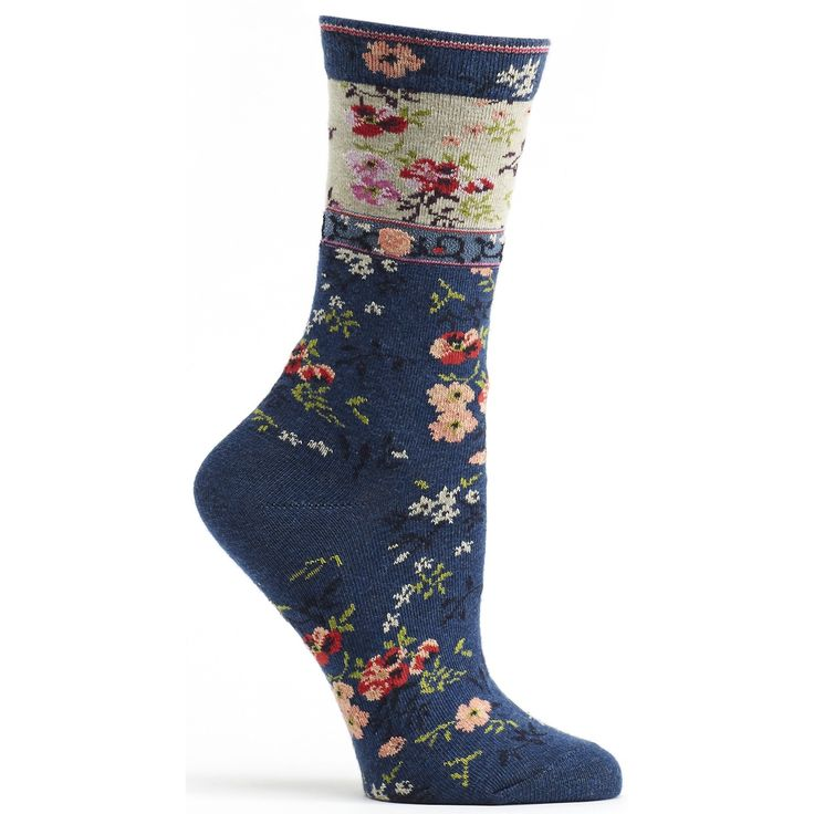 Ozone Design Womens Mona Linen Sock | Shop Floral Socks - Ozone Design Inc