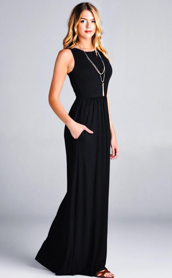 ab2fbc5eb4 ... Coral Cactus Boutique. Gia Black Maxi Dress