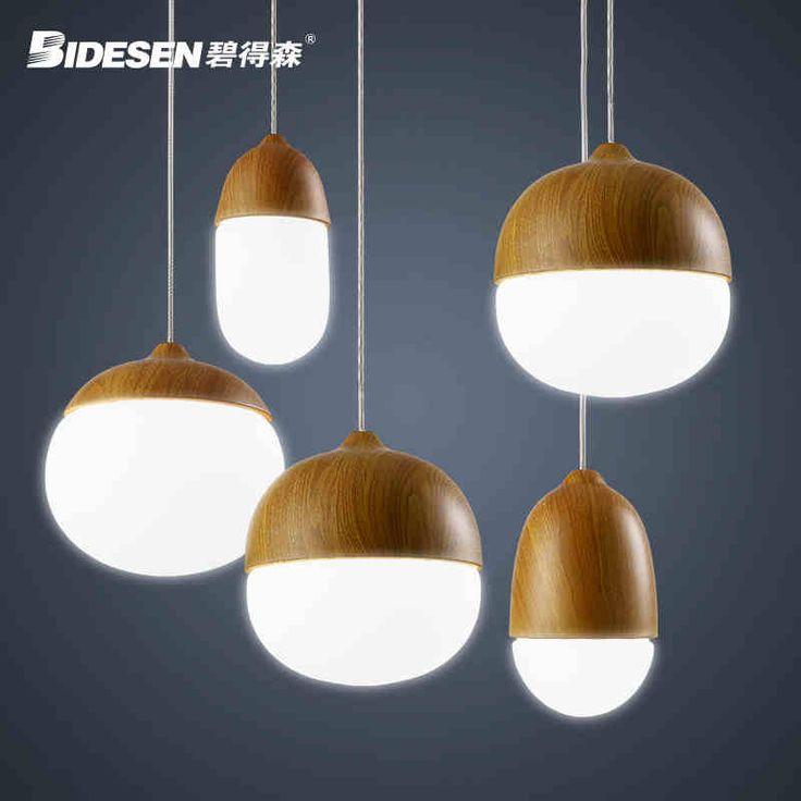 Modern Nordic Simple Single Head Creative Personality Nuts Droplight Bedroom A Buffet Restaurant Children Room Lighting