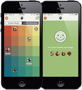 Moodbug: share your mood with your friends