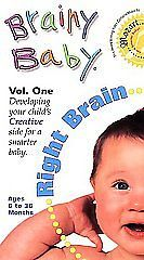 Brainy Baby Right Brain Vol one Developing Creative Side Child 6 - 36 Months VHS