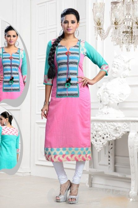 http://www.mangaldeep.co.in/latest-kurties/awful-dazzling-pink-ready-made-party-wear-kurti-5362 For further inquiry whatsapp or call at +919377222211