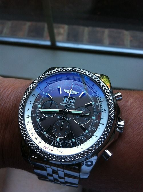 Breitling Bentley - unreal! http://www.thesterlingsilver.com/product/emporio-armani-renato-mens-quartz-watch-with-black-dial-and-silver-stainless-steel-bracelet-ar2434/                                                                                                                                                                                 More