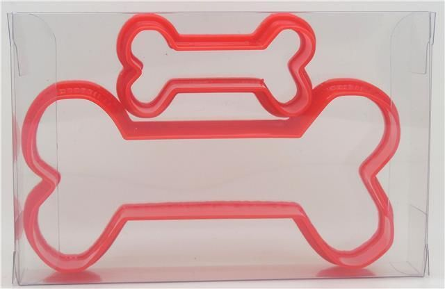 Dog Bone Set of 2 Cookie Cutter, Biscuit, Pastry, Fondant Cutter #Goggly