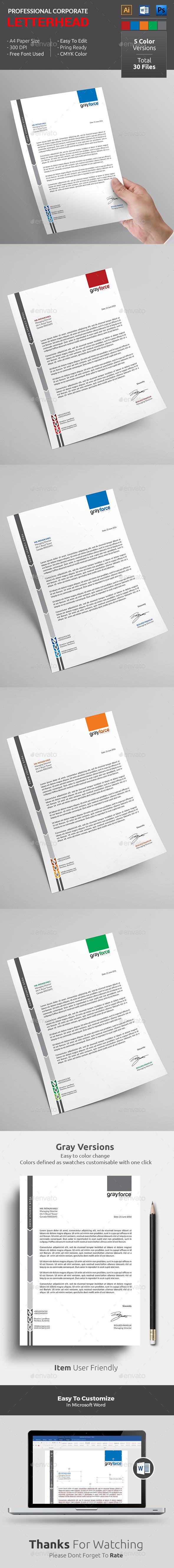 Letterhead is great for any #companyLetterhead design. This awesome letterhead format is just the layout I would love and avaialble in Word, PSD & ai format. 5 color versions are also pretty great. Download http://graphicriver.net/item/letterhead-/16841853?ref=themedevisers