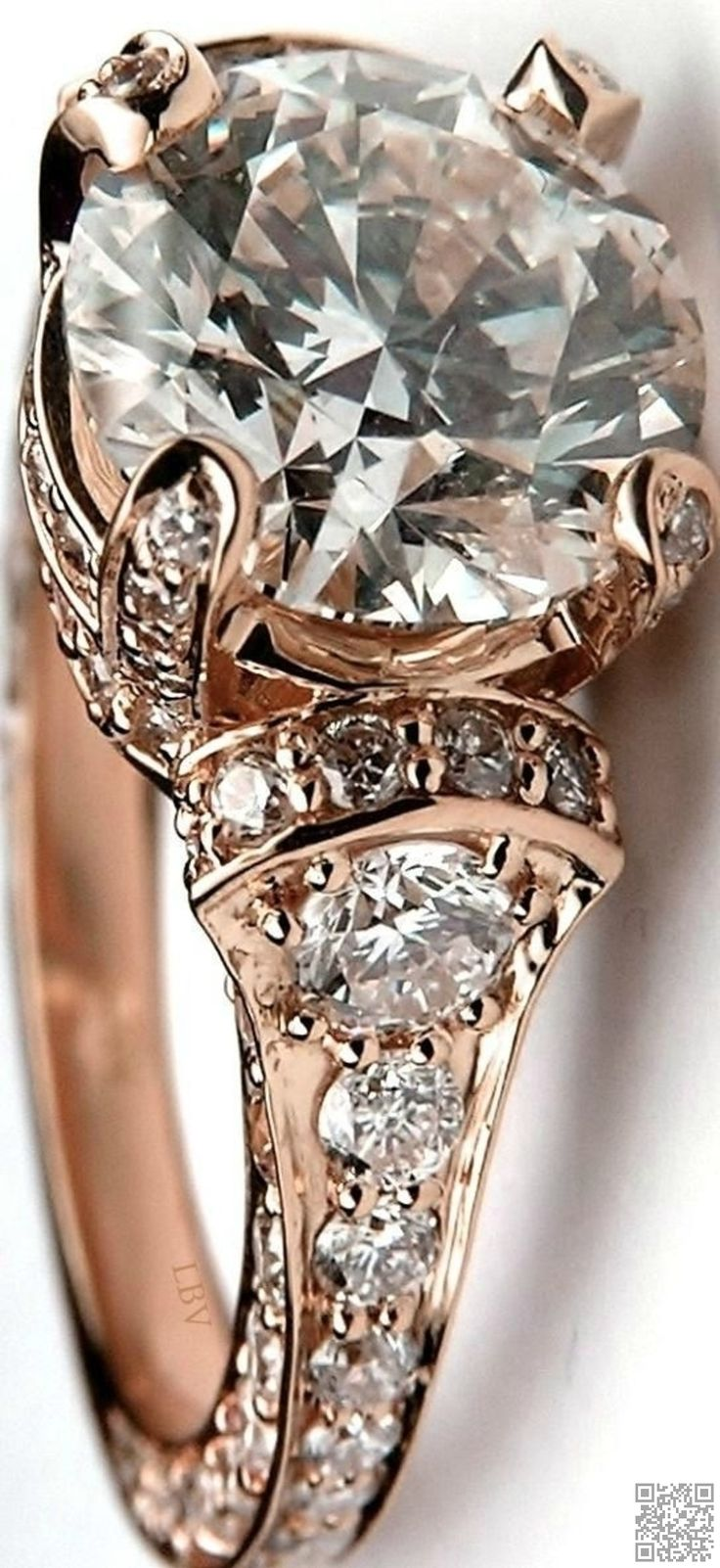 12. #Large round #Diamond Cathedral - 33 #Stunning Examples of Diamond #Jewelry You'll Love ... → Jewelry #Antique