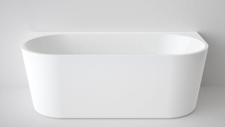 Caroma Aura 1600mm Back to Wall Freestanding Bath